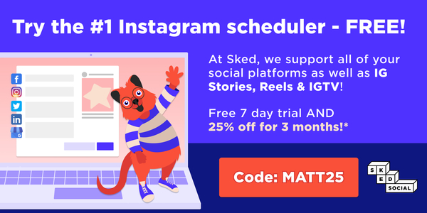 Try the #1 Instagram scheduler – with 25% off for Geeks