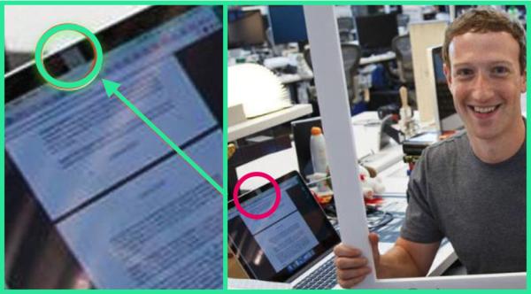 Zuckerberg usa um tapador de câmera no notebook. E você?
