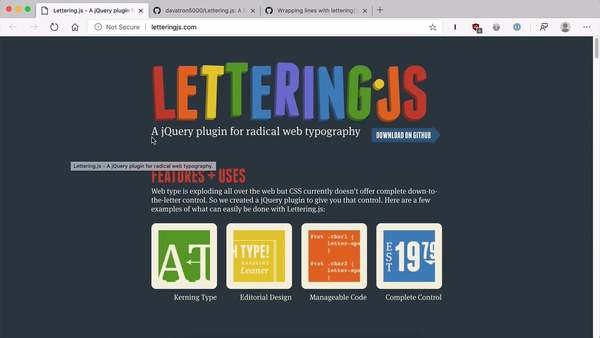 Converting a jQuery plugin to vanilla JS: Lettering.js