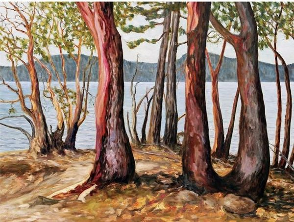 Terrill Welch   Morning With Arbutus Trees (2019)   Available for Sale   Artsy