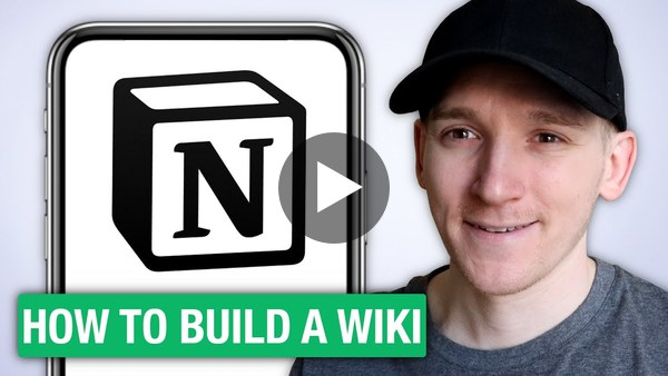 How to Build a Personal Wiki in Notion App - iPhone & Android