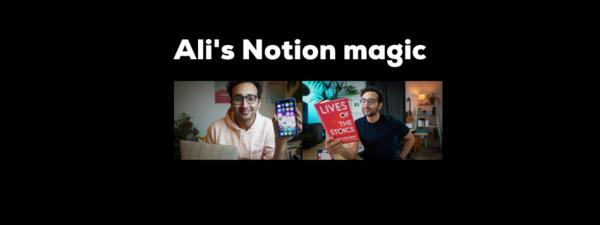 Ali's Notion magic