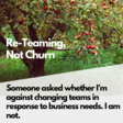 Re-Teaming, Not Churn