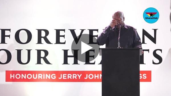 Mahama's full speech at vigil held in honour of Rawlings