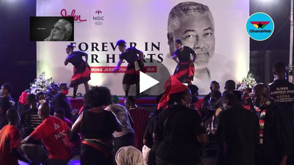 Watch how the 'borborbor' floor was opened at Rawlings's vigil