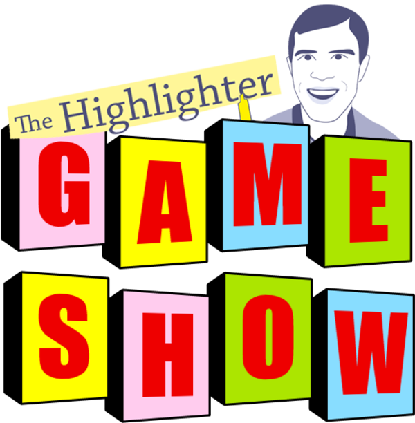 You are warmly invited to the The First Annual Highlighter Game Show on Thursday, Dec. 10, 5:30 - 6:30 pm PT. Get ready for friendly competition, keen strategy, and general merriment (plus tons and tons of prizes!). It's going to be a great way to connect and build our reading community. Get your free ticket here: hltr.co/gameshow