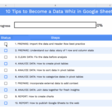How to make a checklist template In Google Sheets