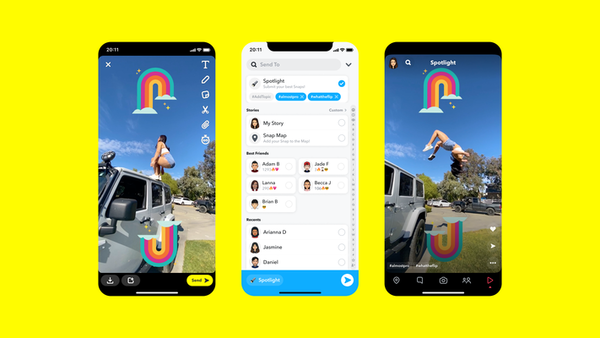 Snapchat launches a TikTok-like feed called Spotlight, kick-started by paying creators