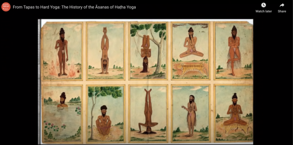 An image from the talk The history of Asanas of Hatha Yoga