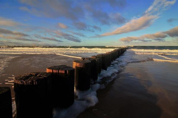 Ein November-Vormittag am Strand von Markgrafenheide. (Foto: Ingo Krummheuer)