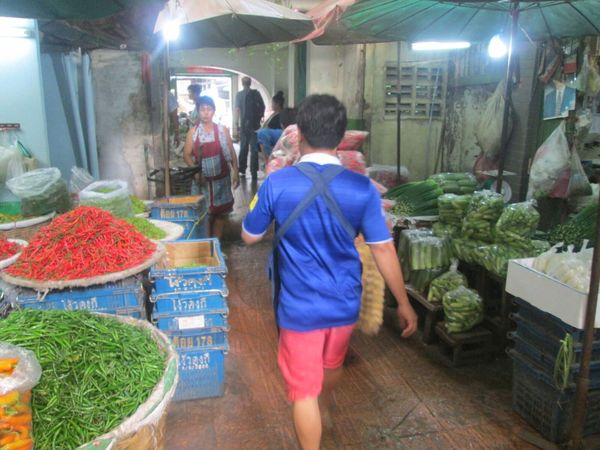 Blumen- und Gemüsemarkt Pak Klong Talad in Bangkok