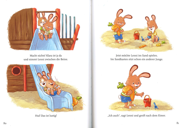 """Blick ins Buch """"Ein Hase zum Liebhaben"""", Baumhaus-Verlag"""