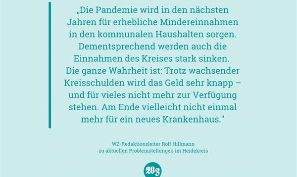 Die Situation des Landkreises ist kein Motiv für Pastelltöne - Meinung - Walsroder Zeitung