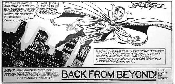 John Byrne - Dr. Strange Original Comic Art