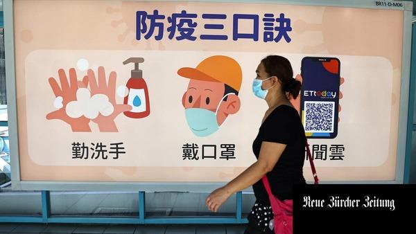 Zwei Hundelängen Distanz im Freien, drei in geschlossenen Räumen: Weshalb Taiwans Behörden Covid-19 mit einem humorigen Hund bekämpfen