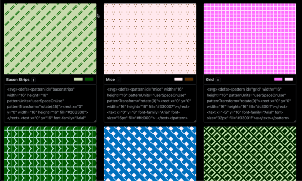 Decent Patterns — SVG Patterns