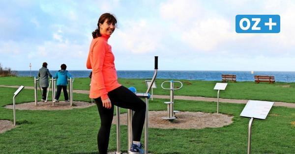 Fitnessgeräte am Meer: So kann man im Ostseebad Nienhagen draußen trainieren