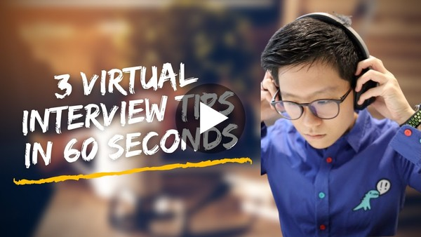 3 virtual interview tips in 60 seconds! #shorts