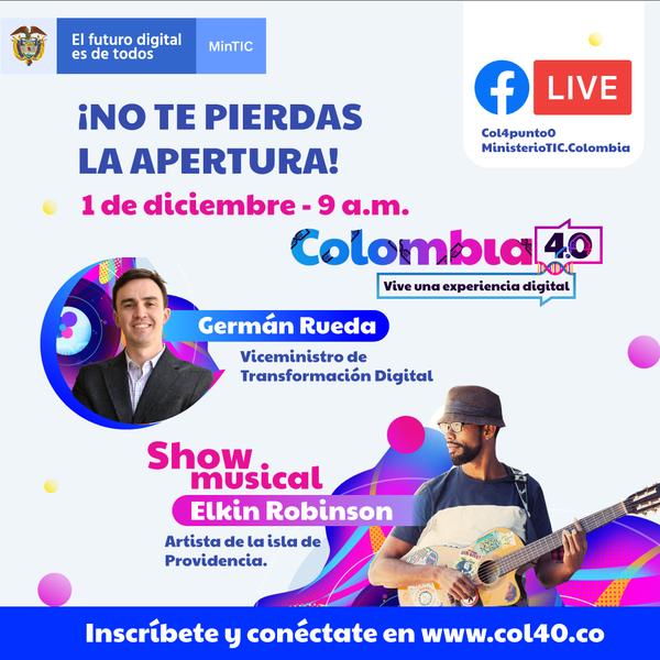 ¡Hoy gran apaertura!Colombia 4.0