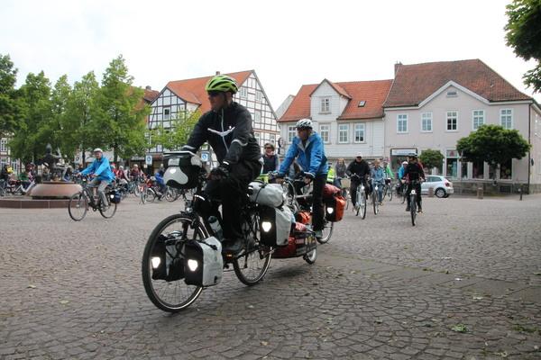 Der Spitta-Platz in Burgdorf liegt gleich am Start der Tour. (Foto: Friedrich-Wilhelm Schiller)