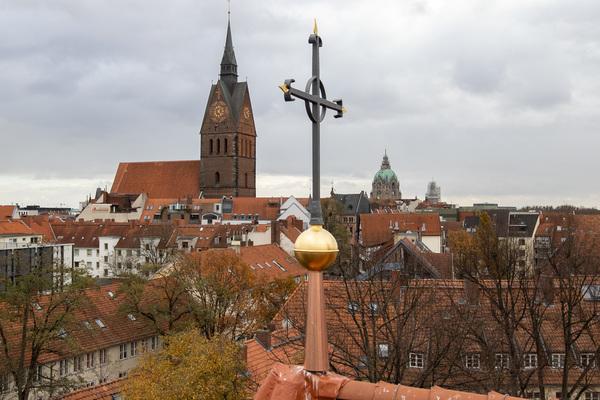 Blick zur Markt- vom Dach der Kreuzkirche aus. (Foto: Rainer Dröse)