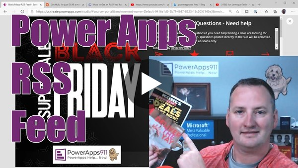 QTT - Power Apps RSS Feed and some Black Friday Fun