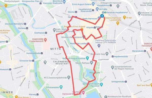 Einen Link zur interaktiven Version der Karte finden Sie weiter unten. (HAZ-Grafik: Llorens | GoogleMaps)