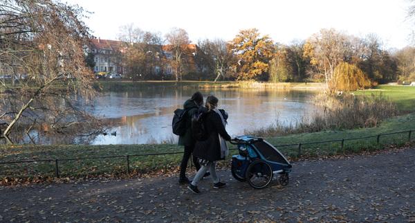 Der Arthur-Bretschneider-Park in Gohlis. Foto: André Kempner