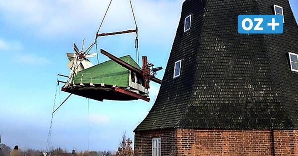 Stover Mühle wird saniert: So wurde die Kappe abgehoben – mit Video