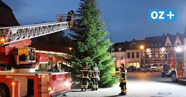Darum war die Feuerwehr am Dienstag auf dem Ribnitzer Markt