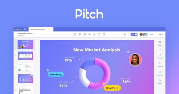 Pitch 一 Collaborative presentation software for modern teams