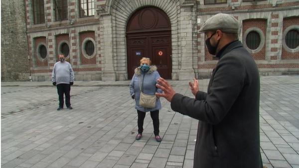 Tournai : Un petit magasin de chansons et un atelier de théâtre contre la tristesse du confinement - Een kleine liedjeswinkel en een theaterworkshop tegen het verdriet van de lockdown.