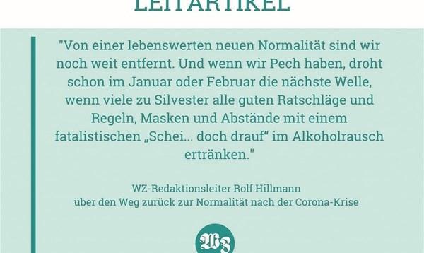 "Durch Corona droht uns ein ""Survival of the Fittest"" - Meinung - Walsroder Zeitung"