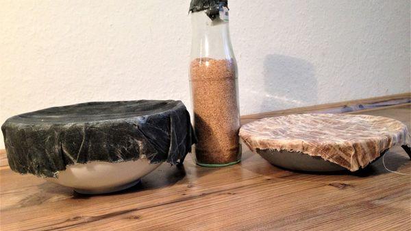 Umweltfreundlicher Ersatz für Alu- oder Frischhaltefolie: Wachstücher selber machen