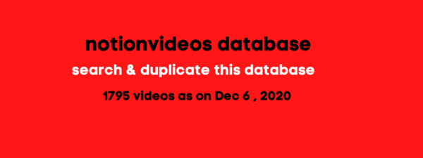 The first draft of the notionvideos.com database