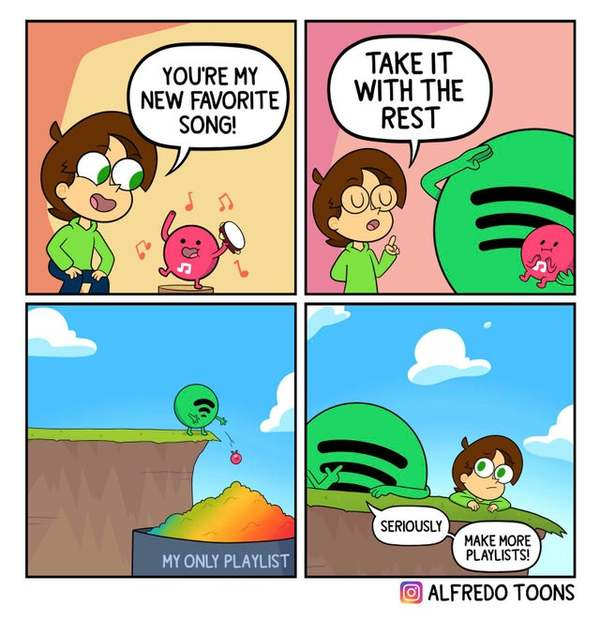 i actually have a bunch of playlists, but this is so relatable!