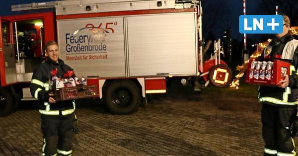 In Großenbrode fährt der Nikolaus mit dem Feuerwehrauto vor