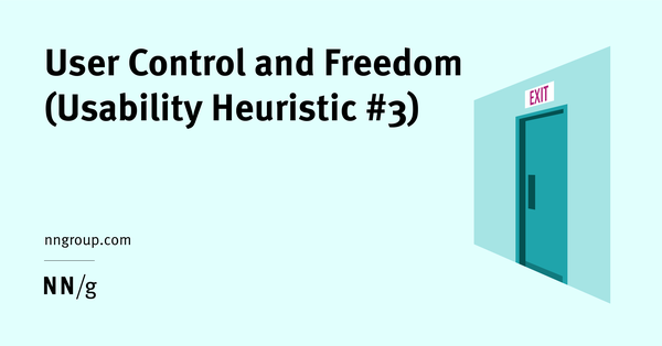 User Control and Freedom (Usability Heuristic #3)
