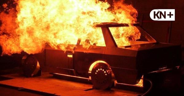 Auto in Flammen: Brandversuche im Rendsburger Kanalrunnel geplant