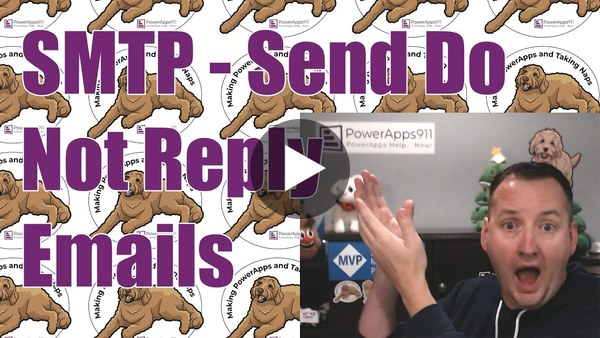 Send emails from Do Not Reply with the Power Apps SMTP Connector