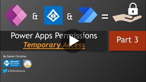 Power Apps Permissions: Temporary Access