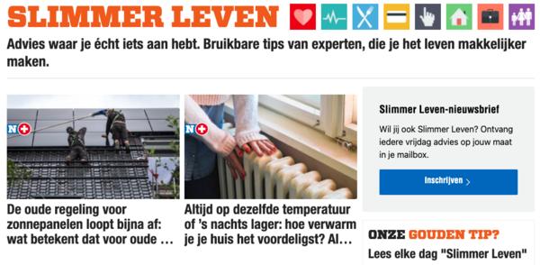 Slimmer Leven op Het Nieuwsblad