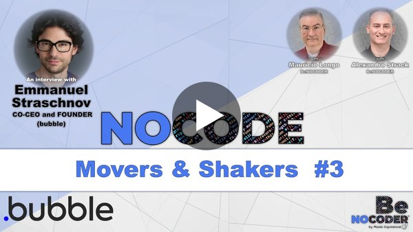 NOCODE Movers and Shakers #3 - Emmanuel Straschnov