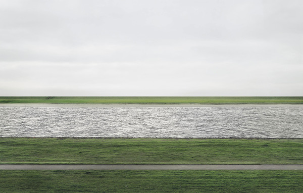 Rhein II, 1999, 190 cm × 360 cm (73 in × 143 in.) Andreas Gursky - sold for $4,338,500 at Christies in 2011.