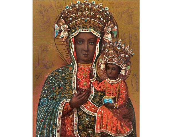 Black Madonna art print, Our Lady of Czestochowa