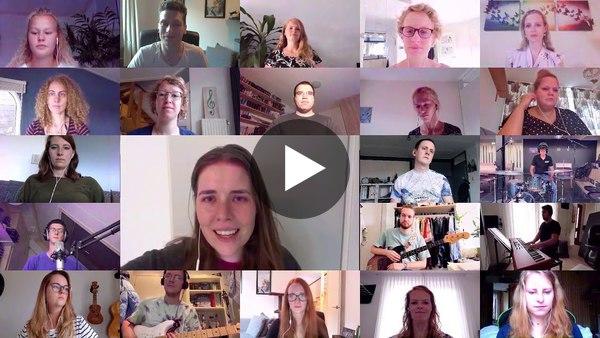 ROELOFARENDSVEEN - Jongerenkoor Faith speelde In Christ Alone, allemaal vanuit huis (video)
