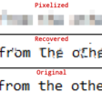 Recovering passwords from pixelized screenshots