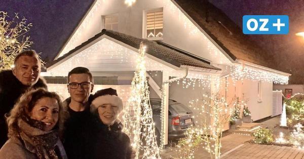 Weihnachtshaus in Karow mit 15 000 Lichtern