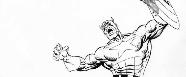 Mike Zeck - Captain America Original Art