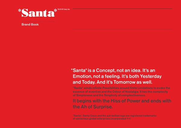 Santa brand book laat je zien hoe een brand book werkt.